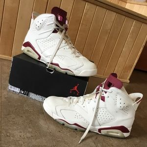 Other - Jordan 6 Maroon size 14 carmine supreme bape Gucci